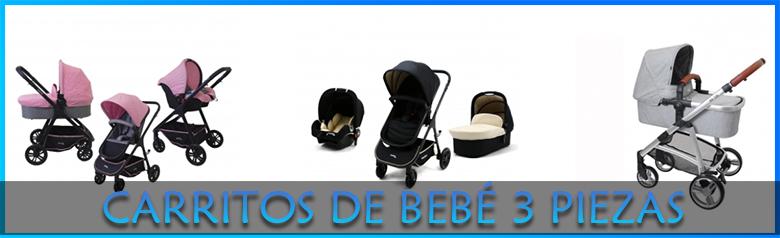 Carritos de bebé 3 piezas